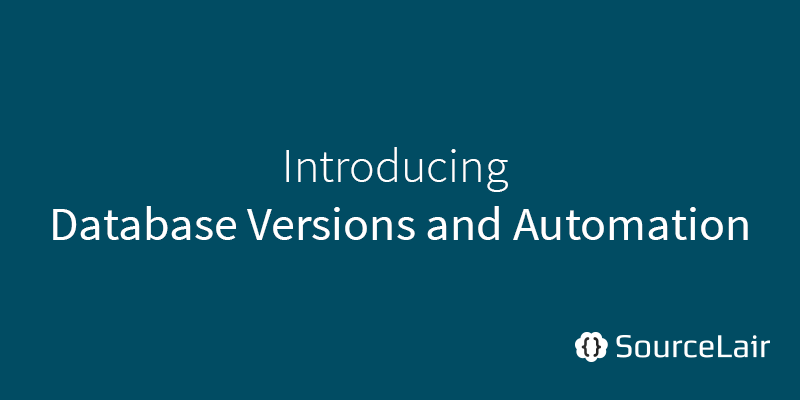 Database versions and better automation